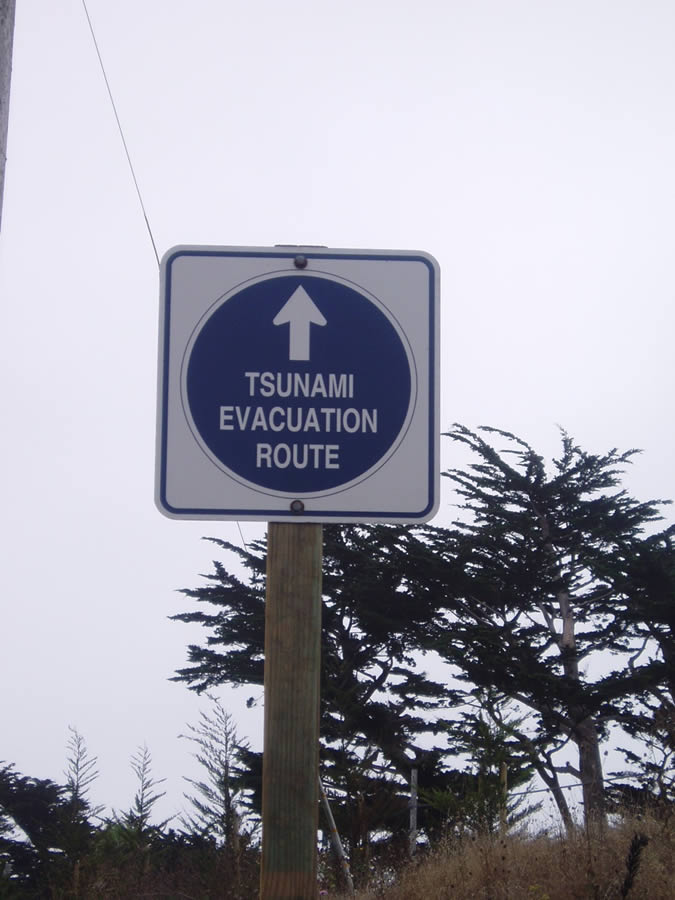 Tsunami Evacutation Route - Up